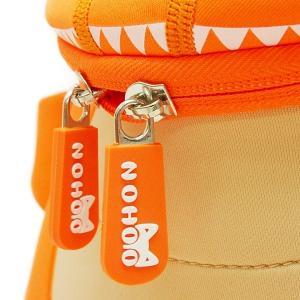 NOHOO ノーフー 子供用 リュック SMサイズ 恐竜 オレンジ ウェットスーツ 素材 キッズ かわいい 可愛い プレゼント ギフト|p-market|05