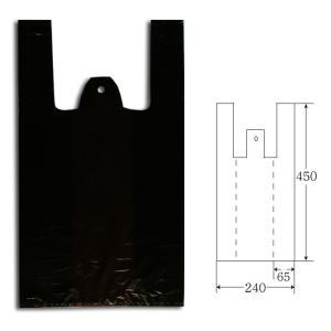 Nカラーハンドハイパー M ブラック ポリ手提げ袋 1000枚|p-maruoka
