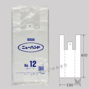 レジ袋 ニューハンド No12 ポリ手提げ袋 1000枚|p-maruoka