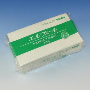 紙タオル エルヴェールエコダブル(200組) 1袋|p-maruoka