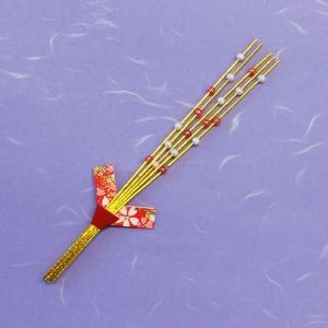 料理飾り 新水引もち花飾り(両面テープ付) 26207 (長さ約16cm) 100個|p-maruoka