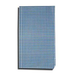 紙袋 4才 ギンガムミニ青 柄入角底袋 100枚|p-maruoka
