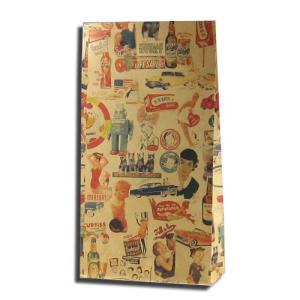 紙袋 4才 キスミー 柄入角底袋 25枚|p-maruoka