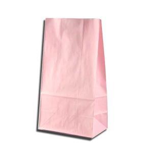 紙袋 K4 白筋無地P 柄入角底袋 50枚|p-maruoka