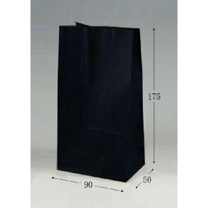 紙袋 SS黒無地 (幅90 マチ50 長さ175) 100枚 p-maruoka