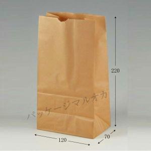 角底袋 No 3 (幅120 マチ70 長さ220 紙質未晒50g/m2 1枚重さ5.5g) 100枚 p-maruoka
