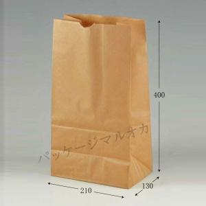 角底袋 No20 (幅210 マチ130 長さ400 紙質未晒70g/m2 1枚重さ24g) 100枚 p-maruoka