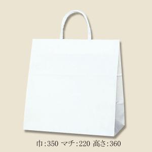 手提げ紙袋 スムース ワイドS PPロープ紐 (巾350 マチ220 高さ360  取っ手ロープ紐) 25枚|p-maruoka