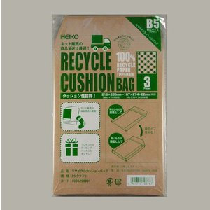 リサイクルクッションバッグ B5 クラフト(3枚) (巾216 長さ285) 3枚 p-maruoka