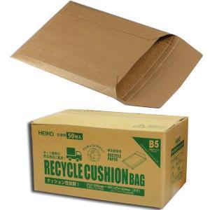 """""""業務用"""" リサイクルクッションバッグ B5クラフト(50枚) (巾216 長さ285) 50枚 p-maruoka"""