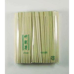 竹箸 21cm(緑色) 割り箸 100膳|p-maruoka