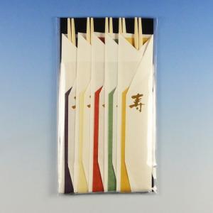 祝箸 彩色美(5膳入) K-003 (長さ24cm 材質アスペン) 1袋|p-maruoka