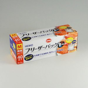 Hフリーザーバッグ 増量タイプM(40枚) 5個|p-maruoka