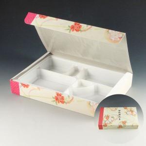 紙弁当箱 K-BOX 90-60天華(中仕切り90-60D白付) (縦180 横278 高さ40) 50個|p-maruoka