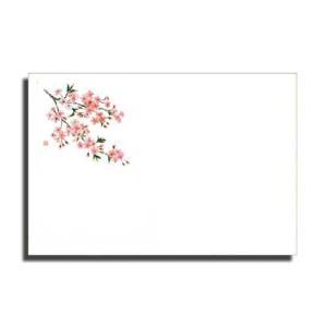 テーブルマット No84桜(Eタイプ)2月〜4月 上質紙 (縦260 横380 紙質上質紙) 100枚|p-maruoka