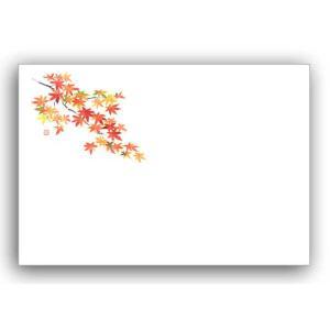 テーブルマット No91紅葉(Eタイプ)9月〜11月 上質紙 (縦260 横380 紙質上質紙) 100枚|p-maruoka
