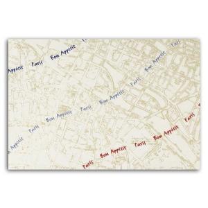 テーブルマット Bon Paris01 T-204 上質紙 (縦260 横380 紙質上質紙70g/m2) 100枚|p-maruoka