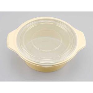 手鍋容器 BF-386ゴールド(平カン合蓋付) (縦212 横185 深さ55) 50枚|p-maruoka
