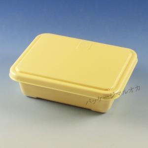 弁当容器 CFうな重 アイボリー(共蓋付) (縦162 横127 深さ45 (角丼容器)) 50枚|p-maruoka
