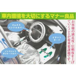 使い捨て車内カバー「マナー良品3点セット」 (シートカバー・フロアマット・ハンドルカバー各50枚入り) p-nsdpaint 02