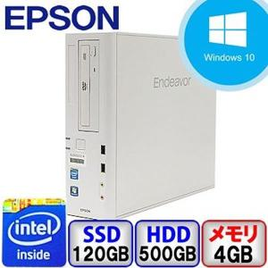 Aランク EPSON Endeavor AT991E  Win10 Pro 64bit Celeron メモリ4GB 新品SSD120GB HD500GB DVD  中古 デスクトップ パソコン PC|p-pal
