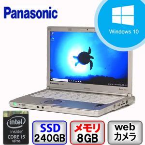 Bランク  Panasonic Let's note CF-NX4 CF-NX4EDHCS Win10 Pro 64bit Core i5 メモリ8GB SSD240GB  Webカメラ Bluetooth Office付 中古 ノート パソコン PC|p-pal
