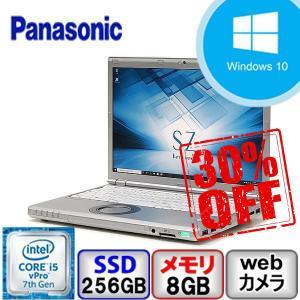 Cランク Panasonic Let's note CF-SZ6 CF-SZ6RDYVS Win10 Pro 64bit Core i5 2.6GHz メモリ8GB SSD256GB Webカメラ Bluetooth Office付 中古 ノート パソコン PC|p-pal
