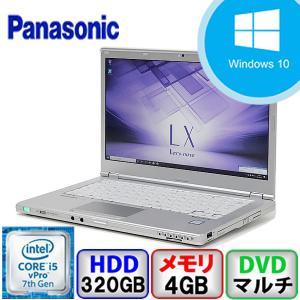 Aランク Panasonic Let's note CF-LX6 CF-LX6RDHVS Win10 Pro 64bit Core i5 4GB 320GB DVD Webカメラ Bluetooth Office付 中古 ノート パソコン PC|p-pal
