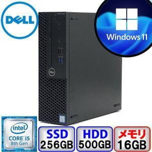 Bランク Windows11 対応 DELL OptiPlex 3060 D11S Win10 Pro 64bit Core i5 3GHz メモリ16GB SSD256GB HD500GB DVD Office付 中古 デスクトップ パソコン PC p-pal