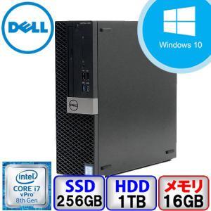 Bランク DELL OptiPlex 7060 D11S Win10 Pro 64bit Core i7 3.2GHz メモリ16GB SSD256GB HD1000GB DVD Office付 中古 デスクトップ パソコン PC p-pal
