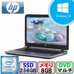 Bランク HP ProBook 450 G3 Win10 Core i7 メモリ8GB SSD256GB DVD Webカメラ Bluetooth Office付 中古 ノート パソコン PC p-pal