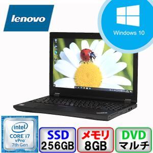 Bランク  Lenovo ThinkPad L570 20J8S00500 Win10 Pro 64bit Core i7 メモリ8GB SSD256GB DVD Webカメラ Bluetooth Office付 中古 ノート パソコン PC|p-pal