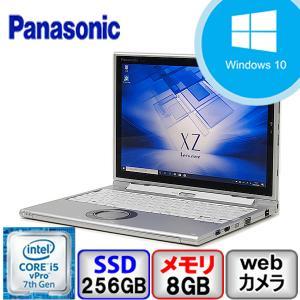 Aランク Panasonic Let's note CF-XZ6 CF-XZ6RD3VS Win10 Pro 64bit Core i5 メモリ8GB SSD256GB Webカメラ Bluetooth Office付 中古 ノート タブレット PC|p-pal