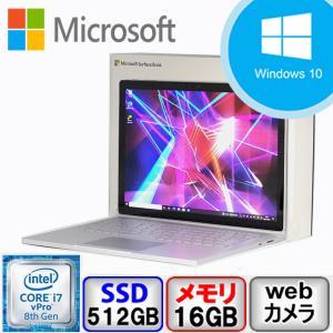 Bランク Win11対応 Microsoft Surface book 2 1832 Win10 Core i7 メモリ16GB SSD512GB Webカメラ Bluetooth Office付 Dock付 中古 ノート パソコン PC|p-pal