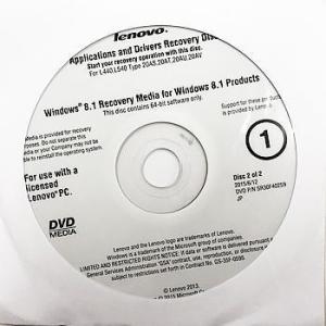 【代引き不可】リカバリディスク lenovo Win8 64bit Applications and Drivers Recovery Operating System Recovery 3枚 LeW8re3-2|p-pal