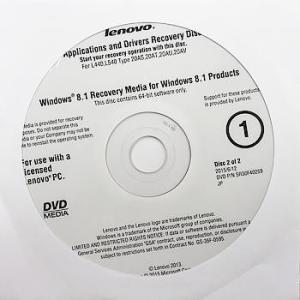 【代引き不可】リカバリディスク lenovo Win8.1 64bit Applications and Drivers Recovery Operating System Recovery 3枚 冊子 LeW8re3-3|p-pal