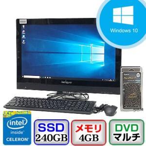 中古デスクトップパソコン Lenovo Lenovo C470 10170 Windows 10 Home 64bit Celeron 1.4GHz メモリ4GB 新品SSD240GB DVDマルチ 21.5インチ P0419D090|p-pal