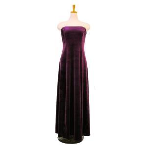 フラダンス衣装 ベロア ベアトップドレス紫 D-57-Vpur p-para
