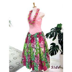 ワンピース/フラダンスドレス フラ衣装 DAI003_A0443 ピンク Mサイズ|p-para|02