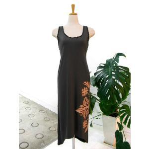 手染めマキシ丈編み込みドレス グレー|p-para