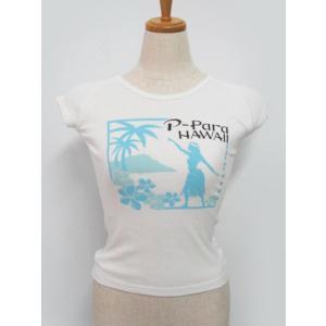 P-Paraオリジナル フラガールTシャツ(ブルー)/FT002 ケイキ対象ハラウTシャツ|p-para