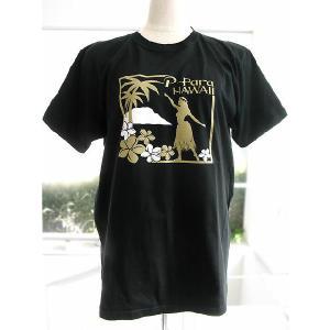 P-Paraオリジナル フラガールTシャツ ベーシックスタイルL黒/FT007|p-para