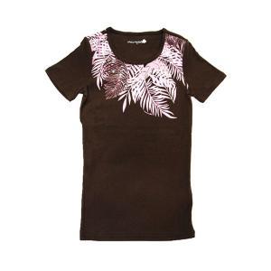 半袖ストレッチTシャツ カイマナファーン(ブラウン)|p-para