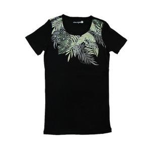 半袖ストレッチTシャツ カイマナファーン(ブラック) p-para