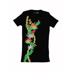 半袖リィリィネックストレッチTシャツ パレカイコ(ブラック)|p-para
