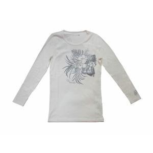 長袖ストレッチTシャツ トロピカルガーデン(ホワイト) p-para