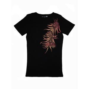 半袖ストレッチTシャツ レアリーフ(ブラック)3L有り|p-para