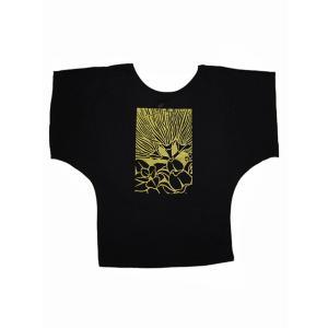 ROCO's ドルマンTシャツ レフア(ブラック)|p-para