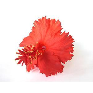 ハイビスカスピック(タイプ2) 赤 Lサイズ(11cm)|p-para