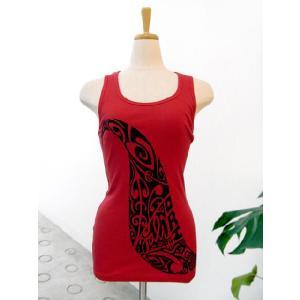 タリーズポリネシア タンクトップ 赤×黒Mサイズ (TP-t009)|p-para